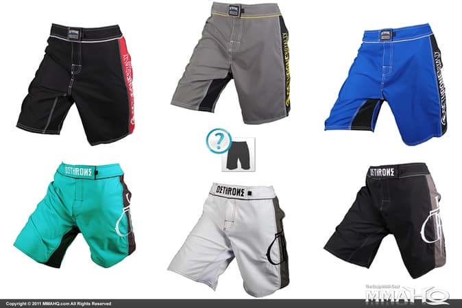 On MMAHQ today get a random pair of Dethrone Shorts for $30