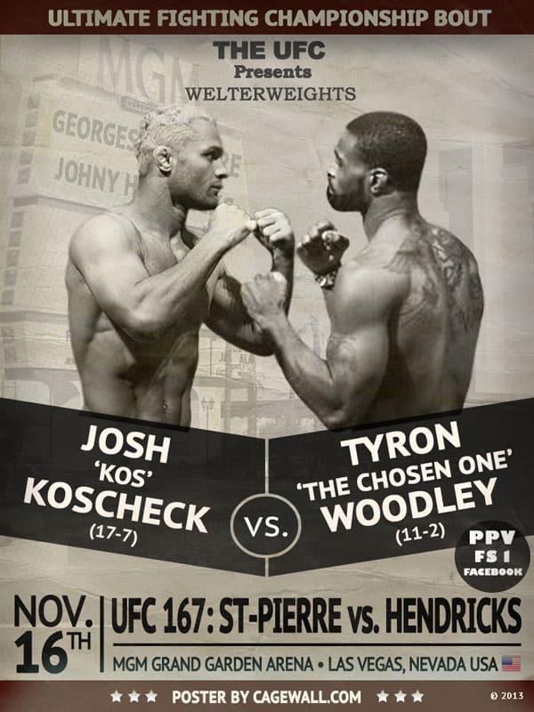 UFC 167 Predictions Koscheck vs. Woodley