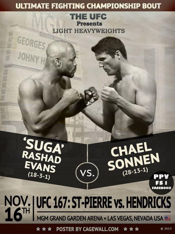 UFC 167 Predictions Evans vs. Sonnen