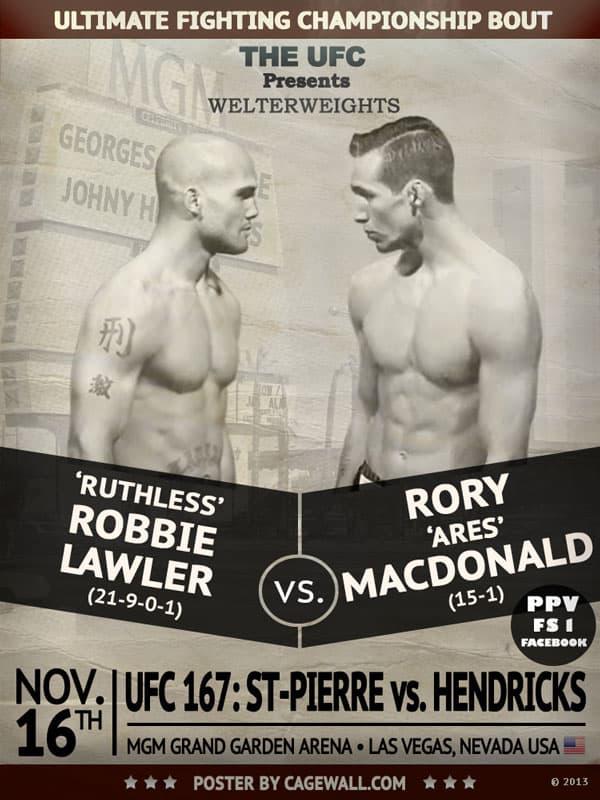 UFC 167 Predictions Lawler vs. MacDonald