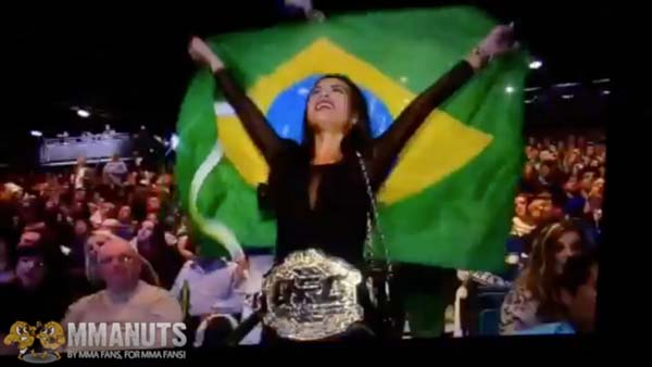 Anyone else notice this Private (UFC Championship) Dancer at UFC 168?