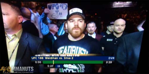 Weird Pic of the Day | UFC 168 | UFC + Monkey = Bananas