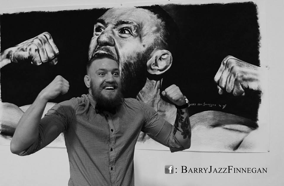 Beyond Fan Art: Check out this Conor McGregor portrait done in charcoal by Barry Finnegan