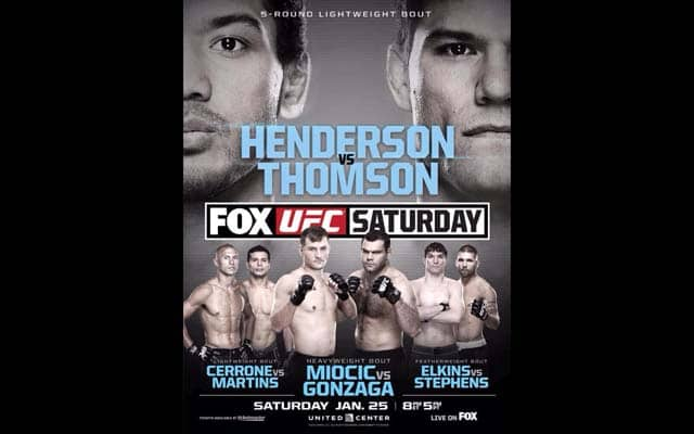 UFC on FOX 10 Predictions   Ben Henderson vs Josh Thomson