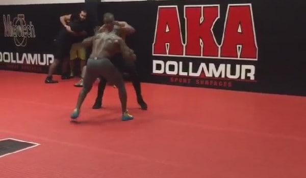 Daniel Cormier and Anthony Johnson Wrestle