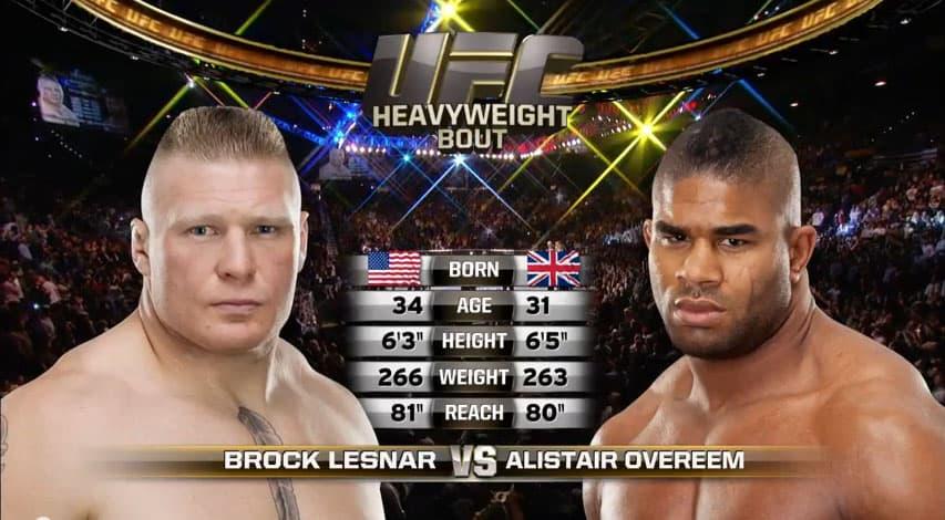 Free Fight: Brock Lesnar vs Alistair Overeem - MMANUTS
