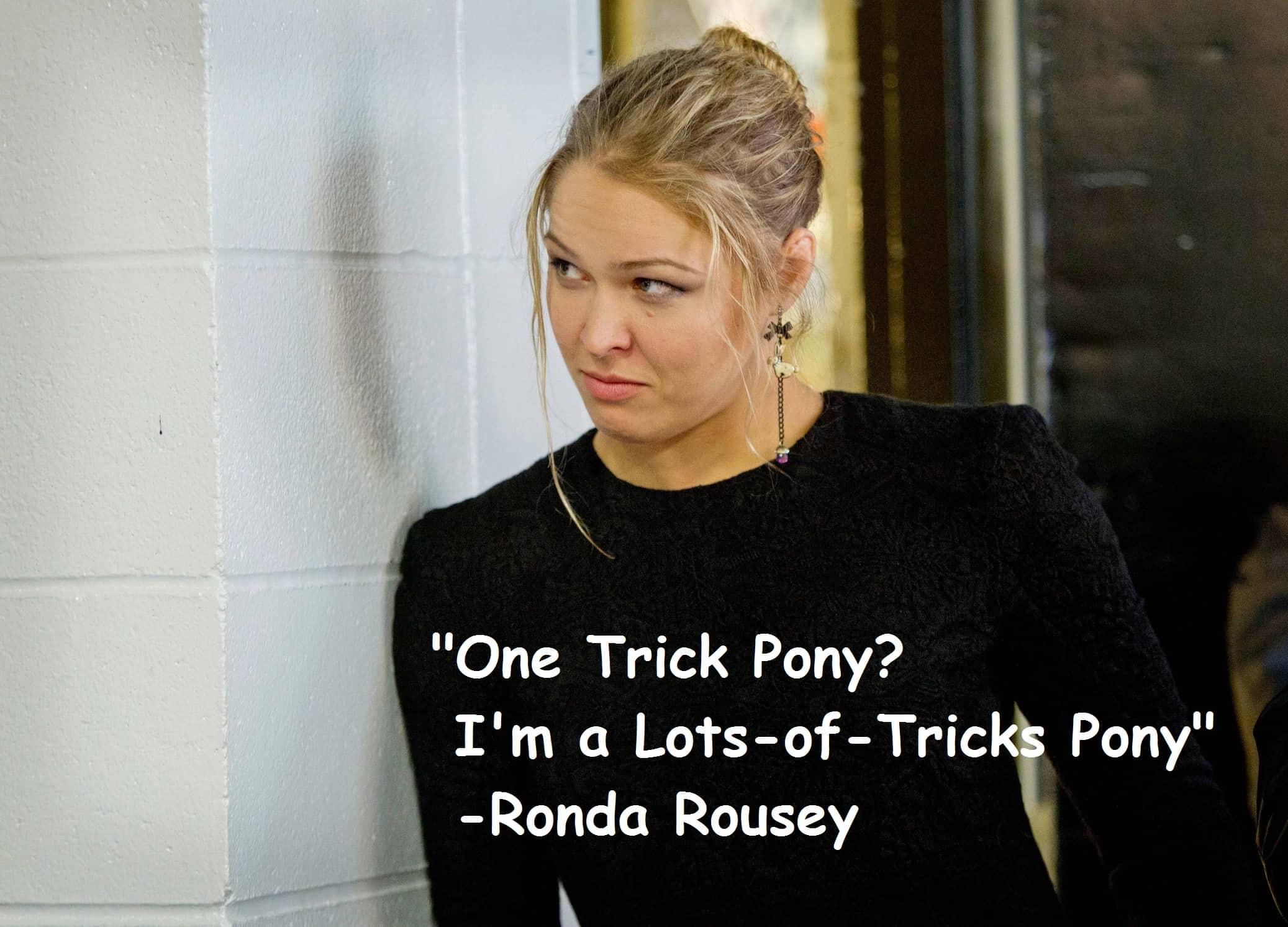 Ronda Rousey Black Dress