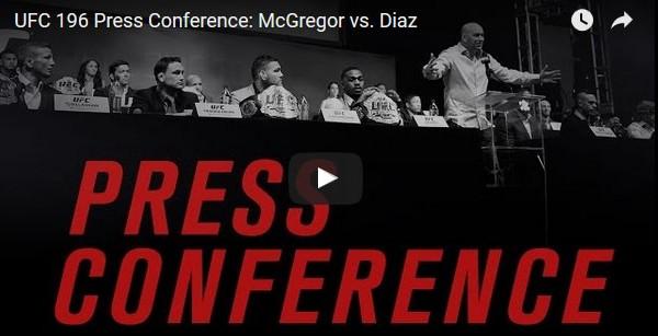 UFC 196 press conference