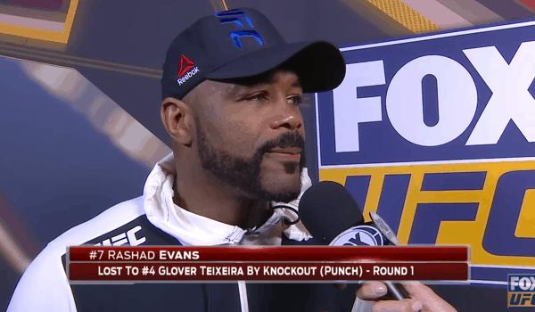 Rashad Evans Post fight