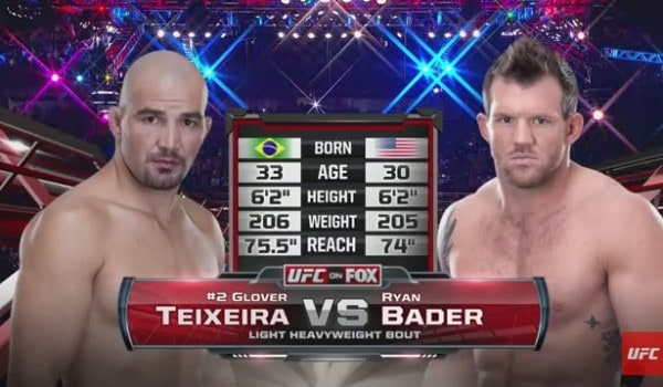 glover teixeira vs ryan bader