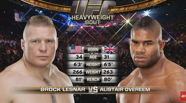 Brock Lesnar vs Alistair Overeem