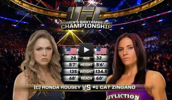 ronda rousey vs cat zingano