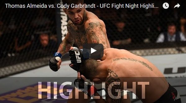 Cody Garbrandt vs Thomas Almeida full fight video highlights
