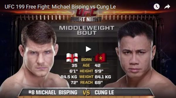 Michael Bisping vs Cung Le full fight video