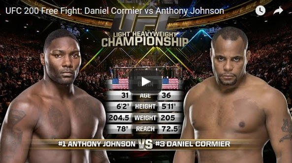 Daniel Cormier vs Anthony Johnson full fight video