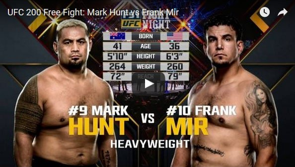 Mark Hunt vs Frank Mir full fight