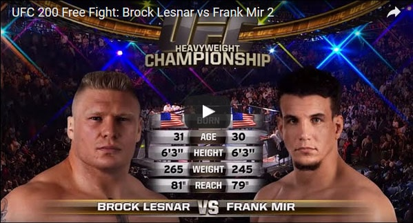 Brock Lesnar vs Frank Mir 2 full fight