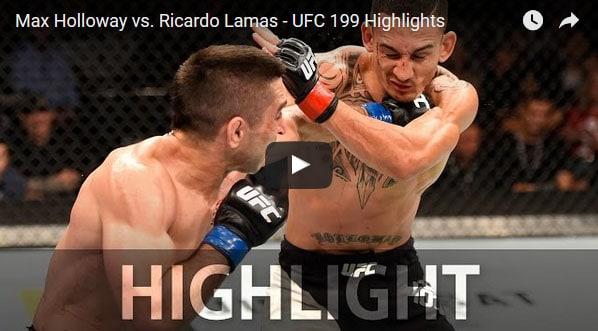 Max Holloway vs Ricardo Lamas full fight video
