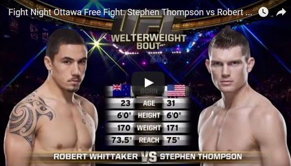 Stephen Thompson vs Robert Whittaker full fight