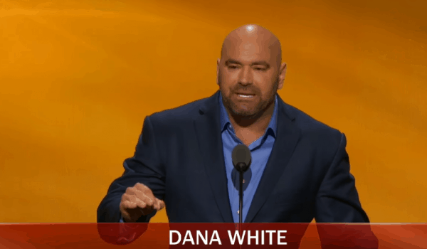 Dana White speaks in support of Donald Trump