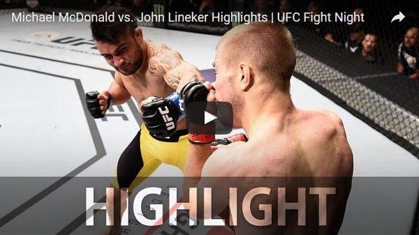 Michael McDonald vs John Lineker full fight video