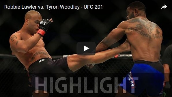Robbie Lawler vs Tyron Woodley full fight video