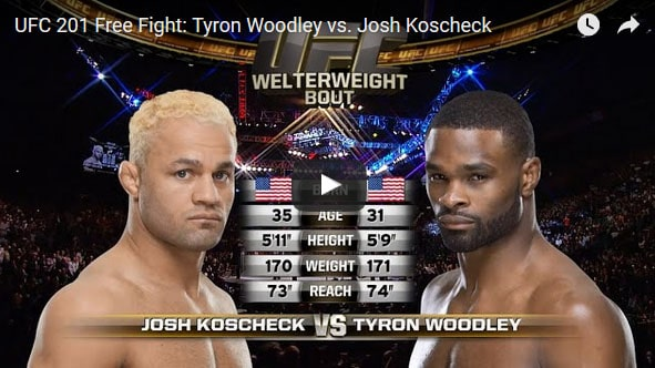 Tyron Woodley vs Josh Koscheck full fight video