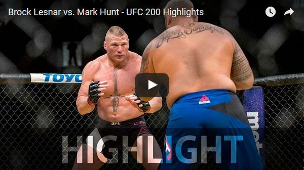 Brock Lesnar vs Mark Hunt full fight video