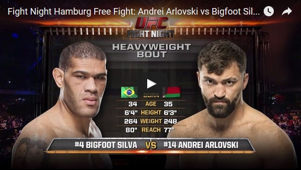 Andrei Arlovski vs Bigfoot Silva Full Fight Video