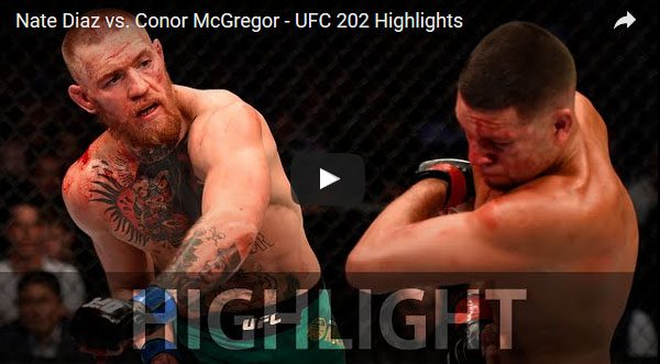 Nate Diaz vs Conor McGregor 2 full fight video highlights