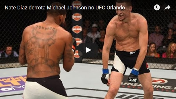 Nate Diaz vs Michael Johnson full fight video