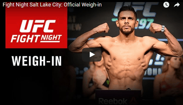 UFC Minneapolis: Weigh-in - YouTube
