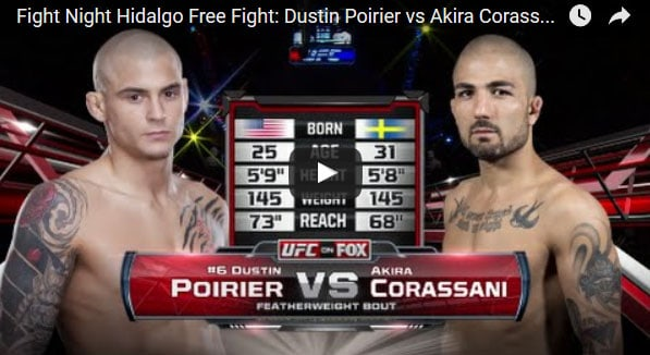 Dustin Poirier vs Akira Corassani Full Fight Video
