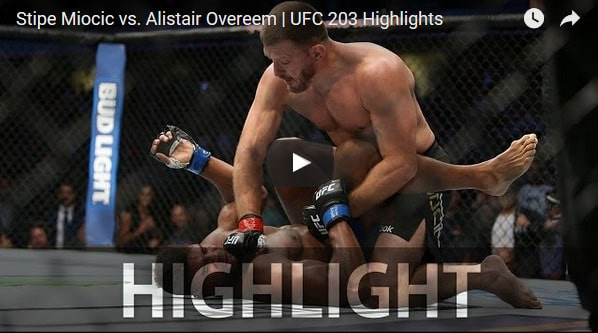 Stipe Miocic vs Alistair Overeem Full Fight Video