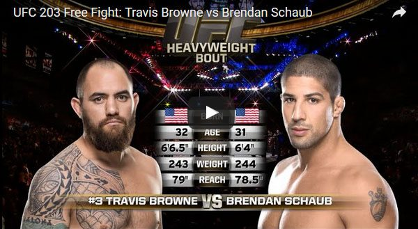Travis Browne vs Brendan Schaub Full Fight Video