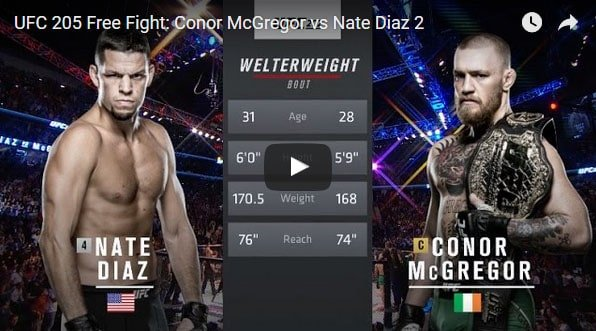 Conor McGregor vs Nate Diaz 2 Full Fight Video
