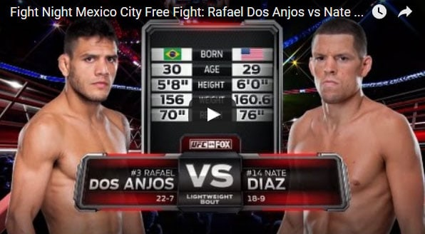 Rafael Dos Anjos vs Nate Diaz