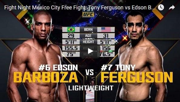 Tony Ferguson vs Edson Barboza Full Fight Video