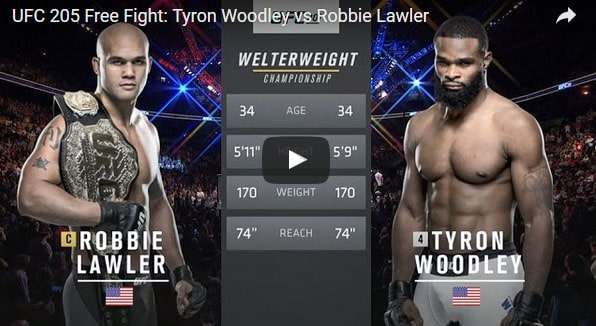 Tyron Woodley vs Robbie Lawler Full Fight Video