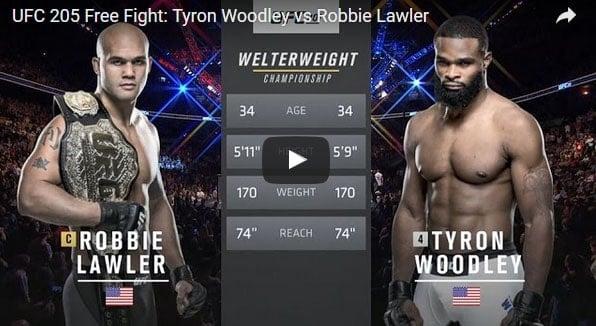 Tyron Woodley vs Robbie Lawler Full Fight Video