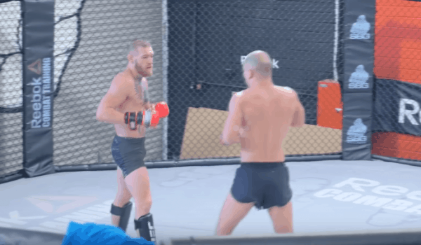 conor mcgregor hard sparring