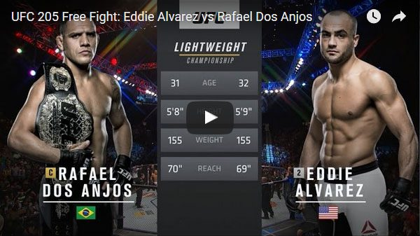 Eddie Alvarez vs Rafael Dos Anjos Full Fight Video