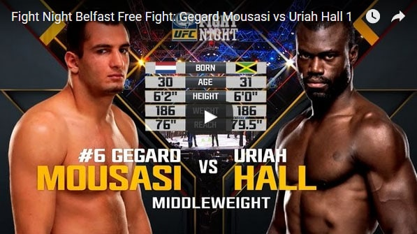 Gegard Mousasi vs Uriah Hall Full Fight Video