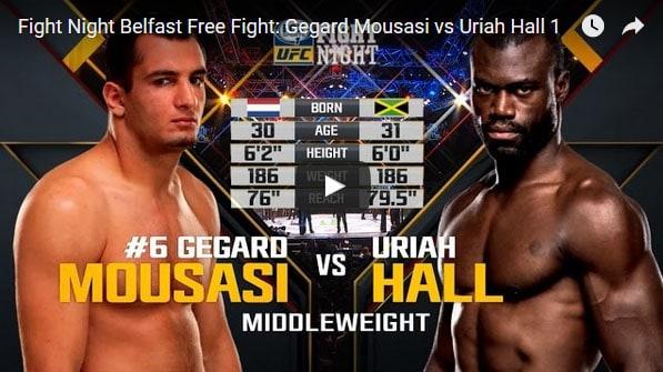 Gegard Mousasi vs Uriah Hall Full Fight Video