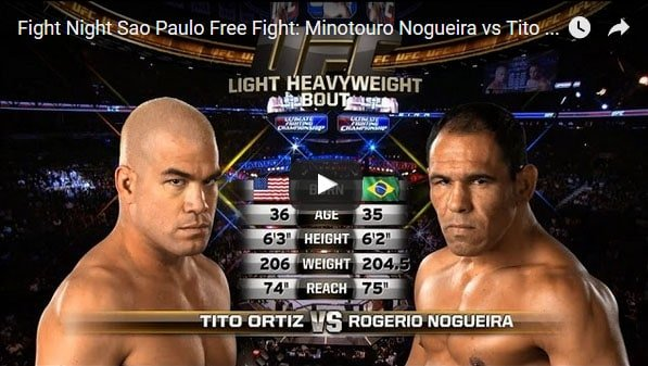 Tito Ortiz vs Minotouro Nogueira Full Fight Video