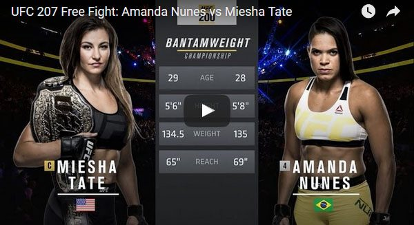 Amanda Nunes vs Miesha Tate Full Fight Video