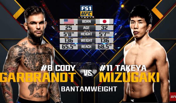 Cody Garbrandt vs Takeya Mizugaki