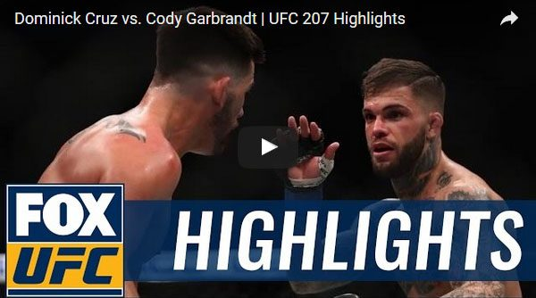 Dominick Cruz vs Cody Garbrandt Full Fight Video Highlights