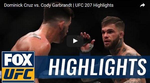 Dominick Cruz vs Cody Garbrandt Full Fight Video Highlights
