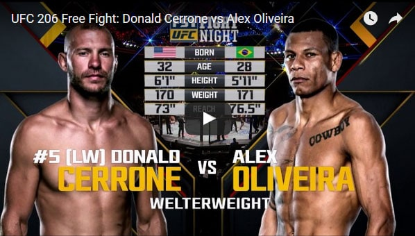 Donald Cerrone vs Alex Oliveira Full Fight Video